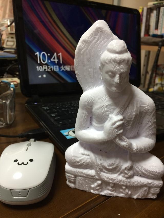 3Dプリンタで仏像を印刷。㈱夢づくり沖縄